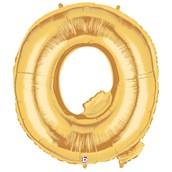 Jumbo Gold Foil Letter-Q