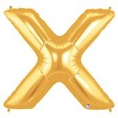Jumbo Gold Foil Letter-X