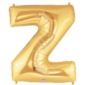 Jumbo Gold Foil Letter-Z