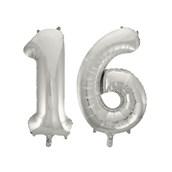 Jumbo Silver Foil Balloons-16