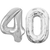 Jumbo Silver Foil Balloons-40