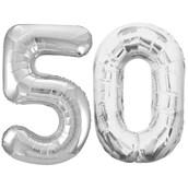 Jumbo Silver Foil Balloons-50