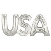Jumbo Silver Foil Balloons-USA
