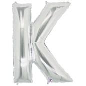 Jumbo Silver Foil Letter-K