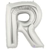 Jumbo Silver Foil Letter-R