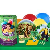 Jungle Party 16 Piece Tableware & Helium Tank