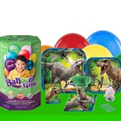 Jurassic World 16 Guest Kit with Tableware and Helium Kit