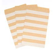 Kraft Striped Paper Treat Bags (15)