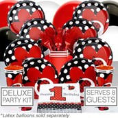 Ladybug 1st Birthday 8 Guest Party Pack