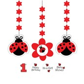 Ladybug Party Dangling Cutout