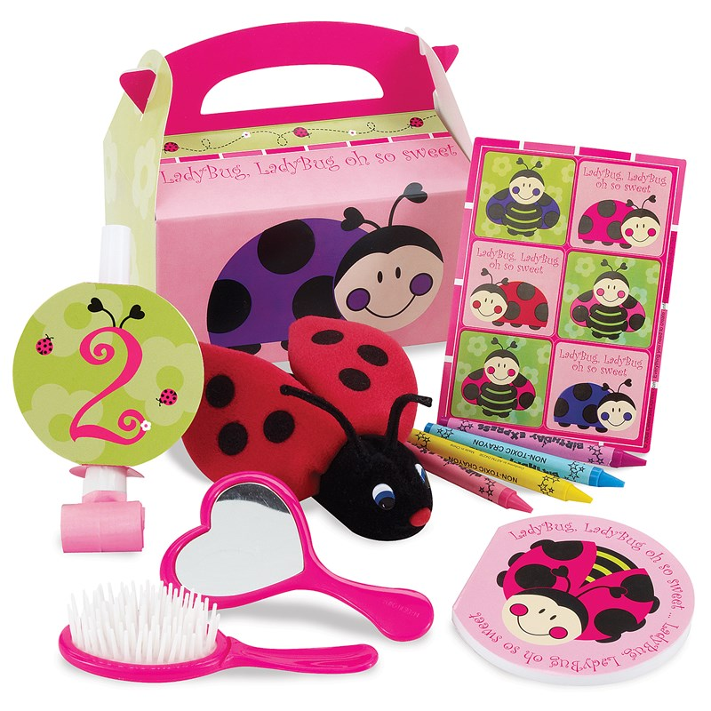 Ladybugs: Oh So Sweet 2nd Birthday Filled Party Favor Box