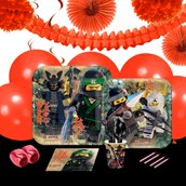 Lego Ninjago 16 Guest Party Pack + Deco Kit