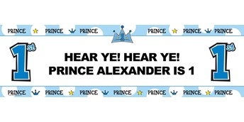 Lil' Prince Personalized Vinyl Banner