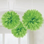 "Lime Green 16"" Fluffy Decorations (3)"