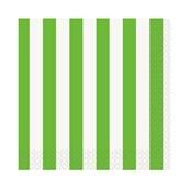 Lime Green Stripe Beverage Napkins