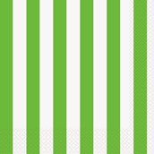 Lime Green Stripe Lunch Napkins
