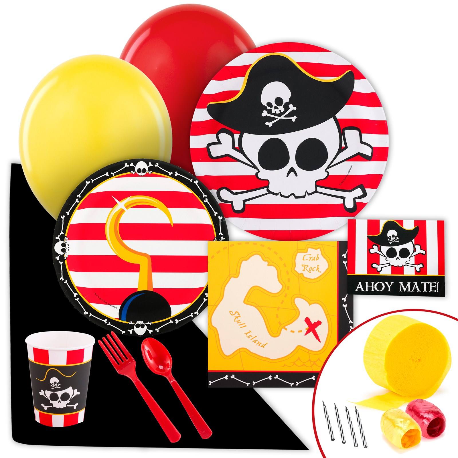 Little Buccaneer Value Party Pack kids birthday partyware