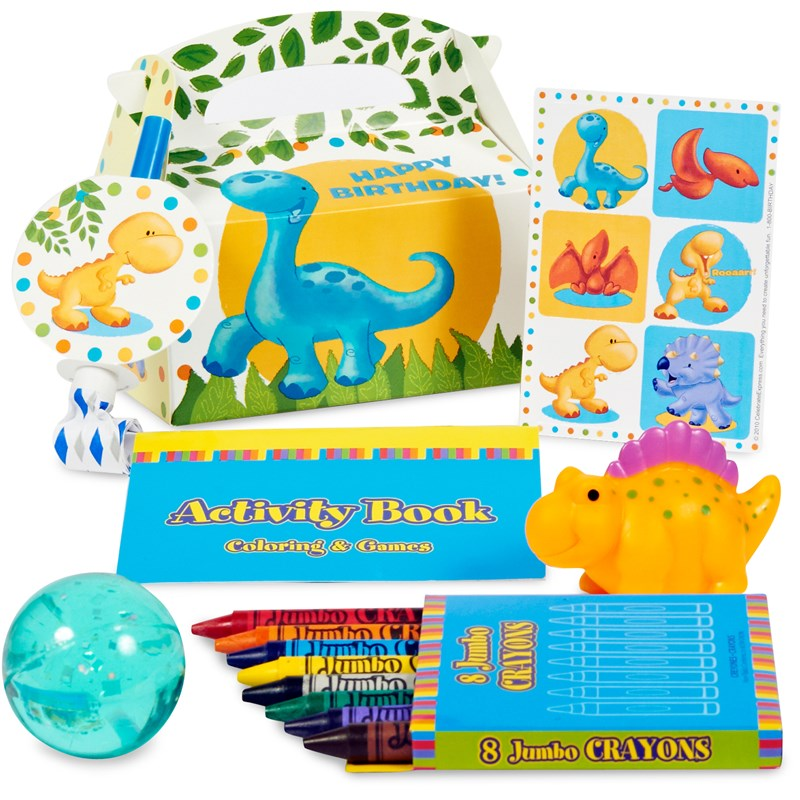 Little Dino 1st Birthday Filled Party Favor Box