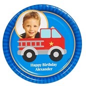 Little Fireman Personalized Dinner Plates (8)