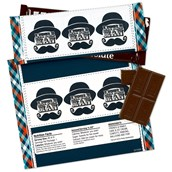Little Man Mustache Large Candy Bar Wrappers