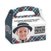 Little Man Mustache Personalized Empty Favor Boxes