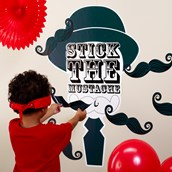 Little Man Mustache Stick the Moustache Party Game