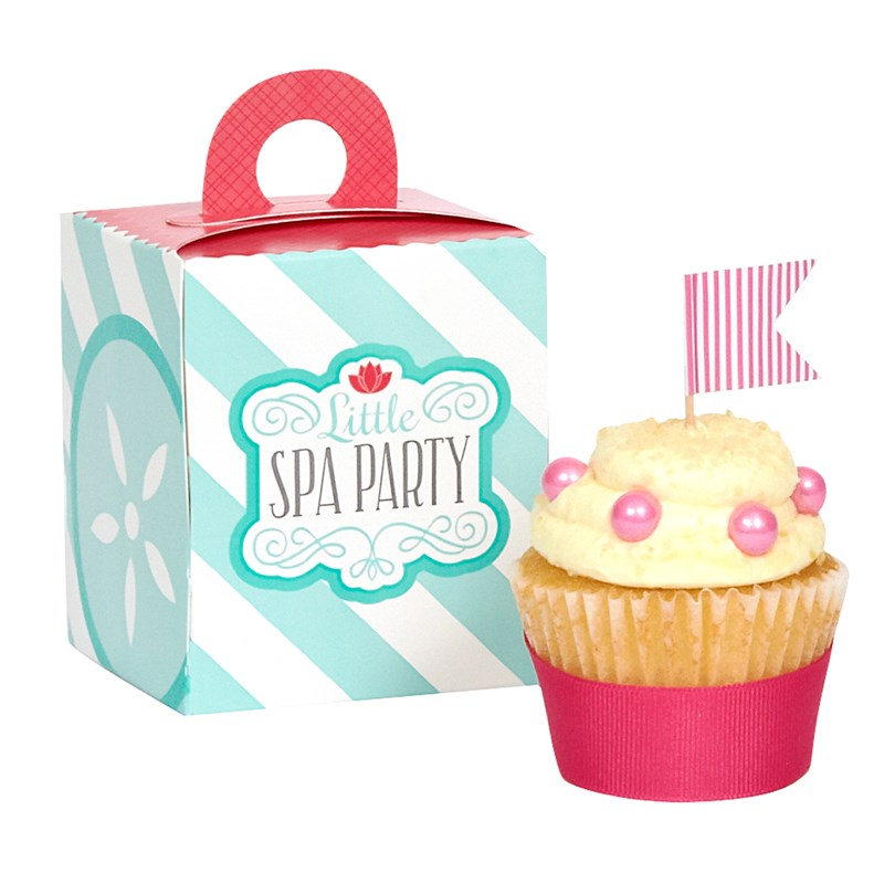 Little Spa Party Cupcake Boxes
