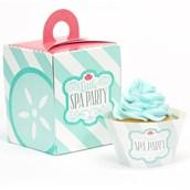 Little Spa Party Cupcake Wrapper & Box Kit