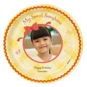 Little Sunshine Personalized Dinner Plates (8)