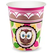 Look Whoo's 1 Pink 9 oz. Paper Cups