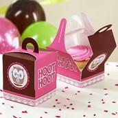 Look Whoo's 1 Pink Cupcake Boxes