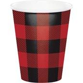 Lumberjack Plaid 9oz Cups (8)
