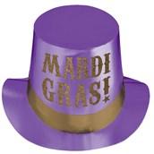 Mardi Gras Foil Party Adult Hat