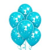 Matte Turquoise #1 Latex Balloons
