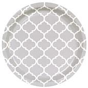 Medium Gray Quatrefoil Dinner Plates (8)