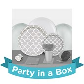 Medium Gray Quatrefoil Party in a Box
