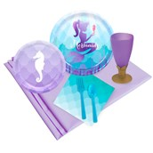 Mermaids Under the Sea 16 pc Guest Pack Plus Molded Cups
