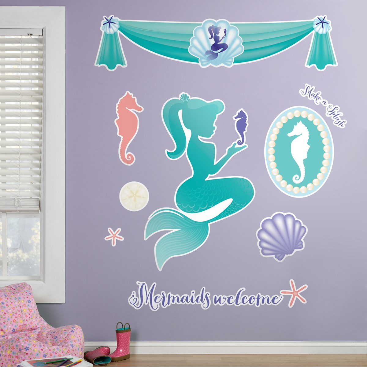 mermaids under the sea giant wall decals  birthdayexpresscom -