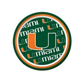 Miami Hurricanes Dessert Plates