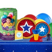 Mighty Girl Power 16 Guest Party Pack & Helium Tank