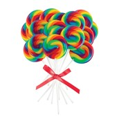 Mini Rainbow Spiral Lollipops