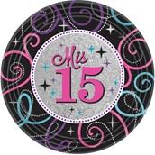 Mis Quince Anos Dessert Plates (8)