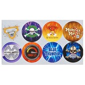 Monster Jam 3D Large Lollipop Sticker Sheet