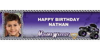 Monster Jam - Mohawk Warrior Personalized Photo Vinyl Banner