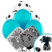 Damask Accent Balloon Bouquet