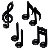 Musical Note Removable Wall Decorations