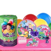My Little Pony Friendship Magic 16 Guest Kit with Tableware and Helium Kit
