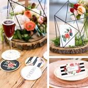 My Mind's Eye Botanical Wedding - Guest Table Decor Set & Coasters