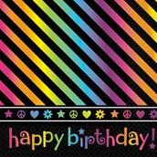 Neon Birthday Lunch Napkins (16)
