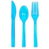 Neon Blue Plastic Cutlery